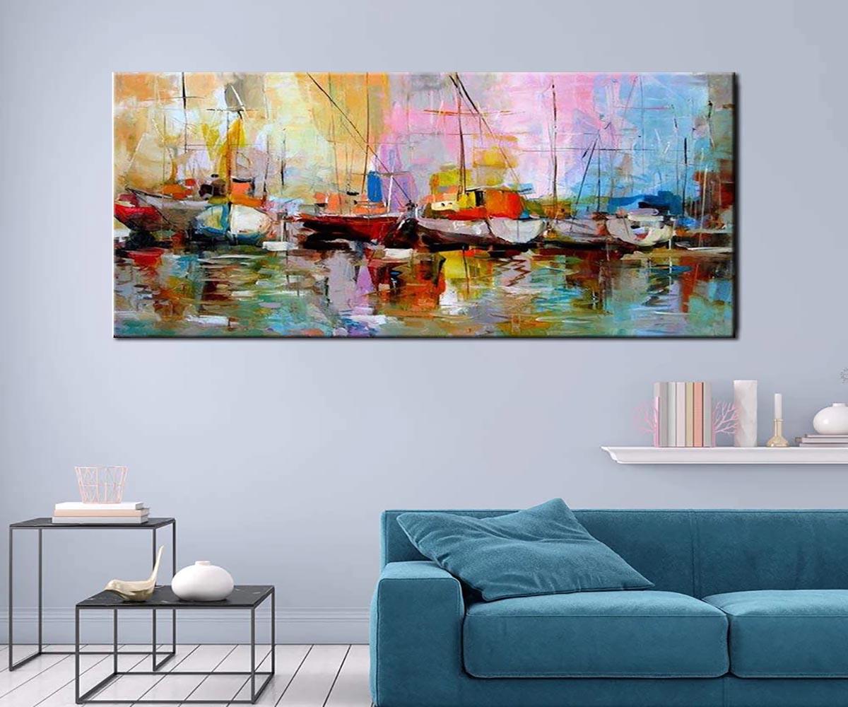 tranh sơn dầu phong cảnh treo phòng khách