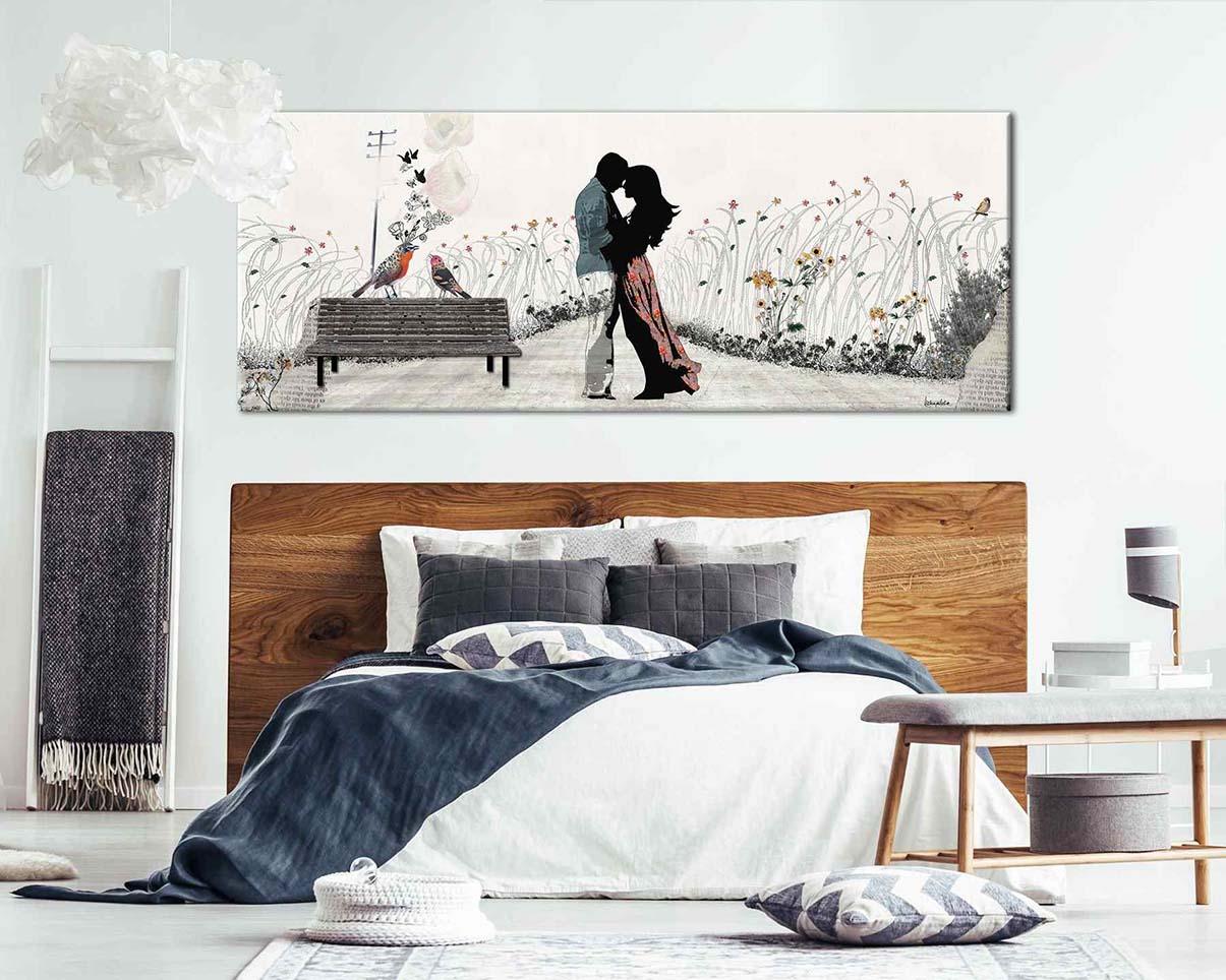 tranh tình yêu trong phòng ngủ vợ chồng