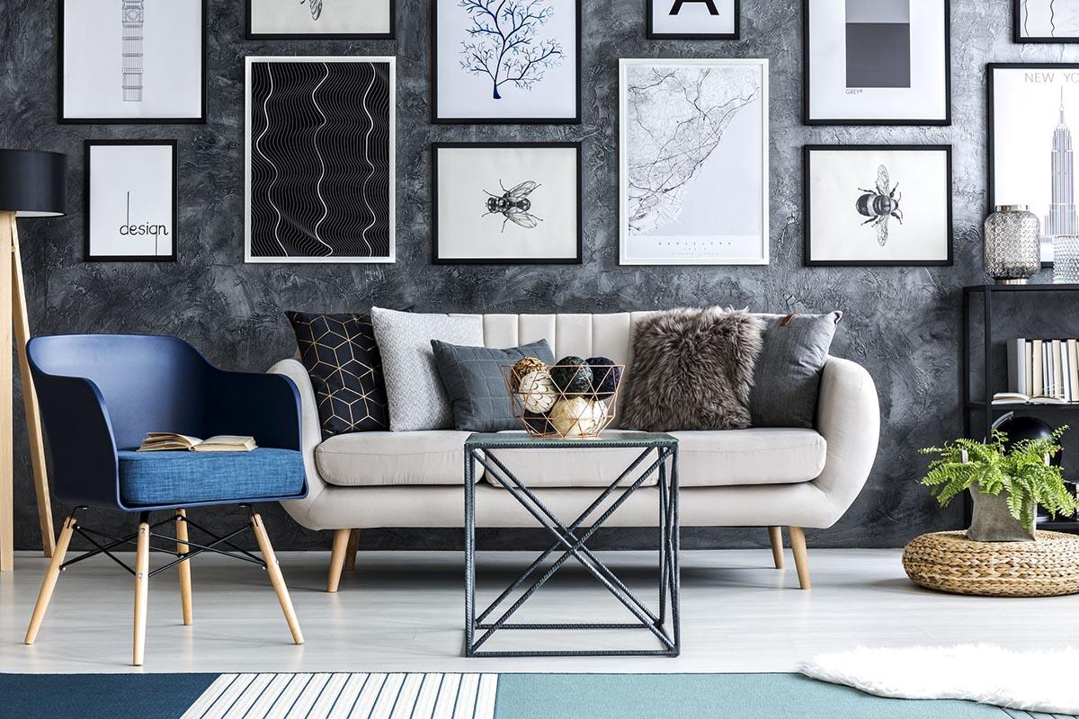 tranh vải treo tường phòng khách