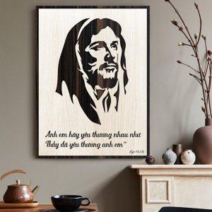 Tranh Công Giáo TBIG-CG005: Anh em hãy yêu thương nhau như Thầy đã yêu thương anh em